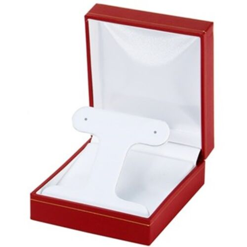 4 Hoop or Post Earring Boxes Red Classic Jewelry Display Packaging Gift Boxes