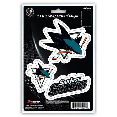 san jose sharks nhl ice hockey team logo decal sticker vinyl die set made in usa