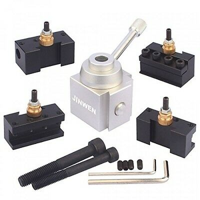 Jinwen Tooling Package Mini Lathe Quick Change Tool Post Holders Multifid