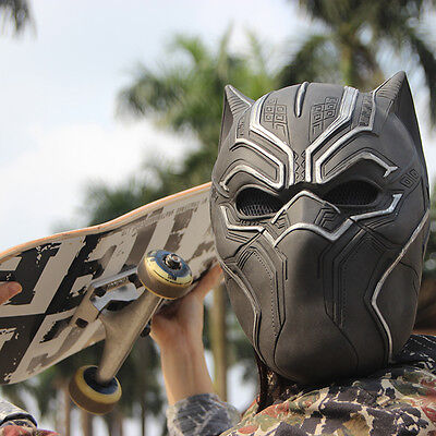 Marvel Black Panther Cosplay Mask Halloween Costume PVC Prop Party COS Helmet](Black Panther Party Halloween Costumes)
