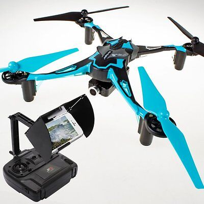 Nine Eagles Galaxy Visitor 6 Pro MASF15 M15 FPV Quadcopter 720P RTF Style 2 Blue