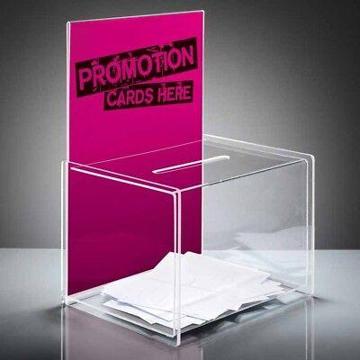 Sigel VA150 Acryl Losbox A4 Aktionsbox Spendenbox glasklar Einwurfbox Wahlurne