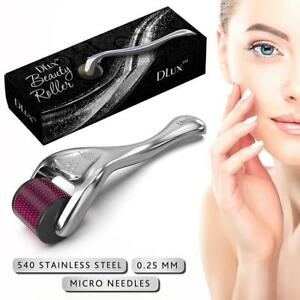 NEW DLUX DERMA BEAUTY ROLLER .25MM 189292706 STAINLESS STEEL ANTI-AGING COSMETICS