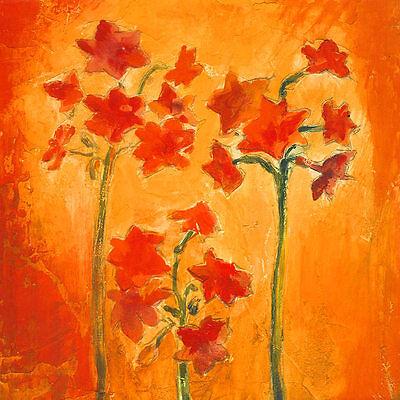 Blumen II Poster Kunstdruck Bild 70x70cm