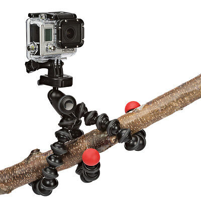 Joby GorillaPod Action Tripod with Mount for GoPro - Black / Red