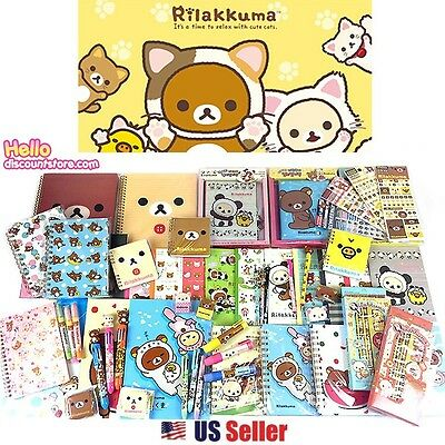 [GIFT WRAP] San-x Rilakkuma Assorted School Supply Pen Note Stationary Gift Set