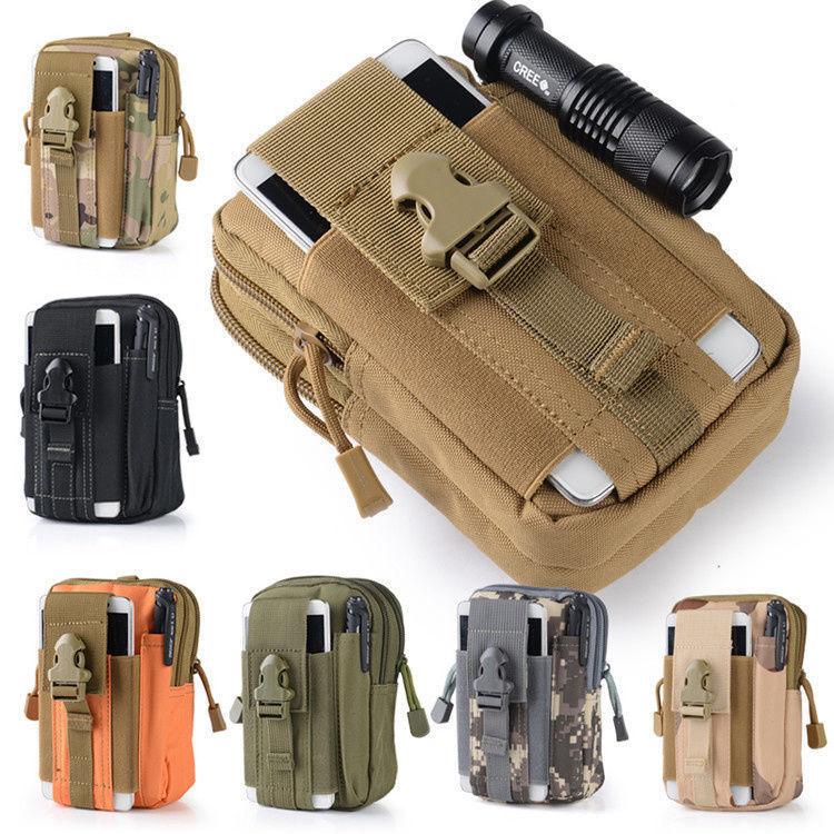 US Men Tactical Waist Fanny Pack Belt Bag Camping Hiking Pouch Wallet Phone Bag Bags