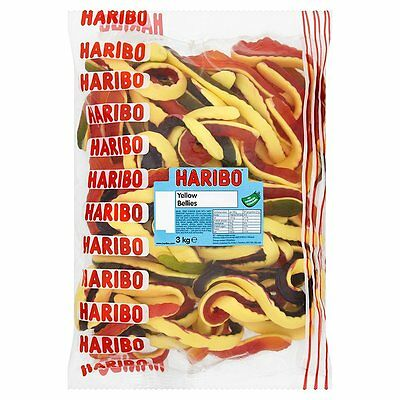 Haribo Yellow Belly Giant Snakes 3kg Gummy Sweets](Giant Gummy Snake)