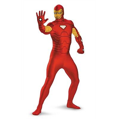 Iron Man Deluxe Bodysuit Adult & Teen Zentai Adult Costume | Disguise - Adult Ironman Costume