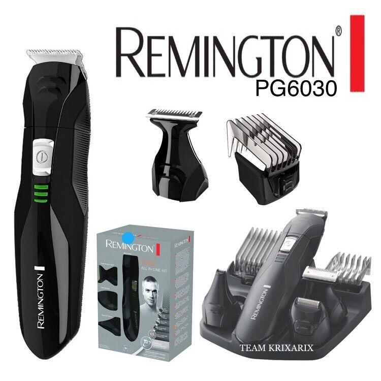 REMINGTON PG6030 Rifinitore Viso, Lame in Titanio con Accessori, Barba e Capelli