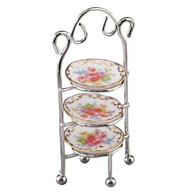 3-tier-dessert-stand (Dollhouse Empty 3-tier Dessert Stand 1.498/6 Reutter Dessert Miniature 2018)