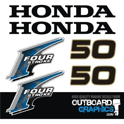 Honda Outboard Engines (Honda 50hp 4 stroke outboard engine decals/sticker kit - other outputs available )