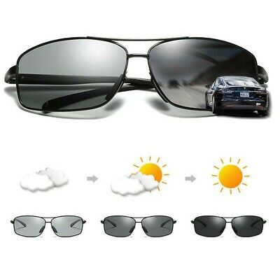 Men's Photo-chromatic UV400 Polarized Sunglasses Outdoor Driving Fishing (Chromatic Sunglasses)