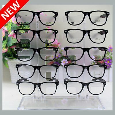 2 Row 10 Pair Sunglasses Eyeglasses Glasses Frame Display Stand Rack Holder Max