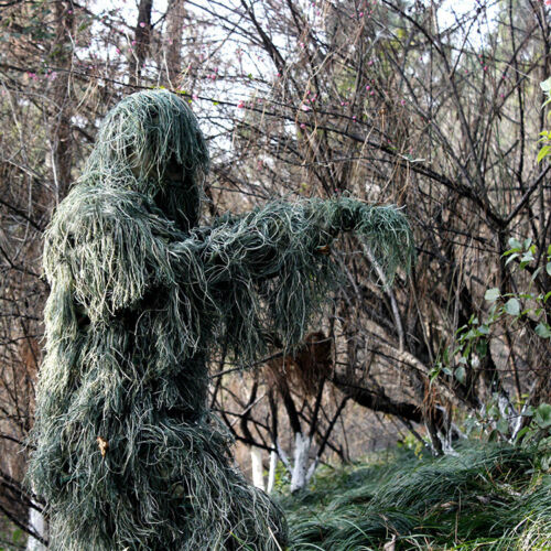 3D Tactical Camouflage Camo Sniper Ghillie Suit Hunting Forest Woodland Clothing