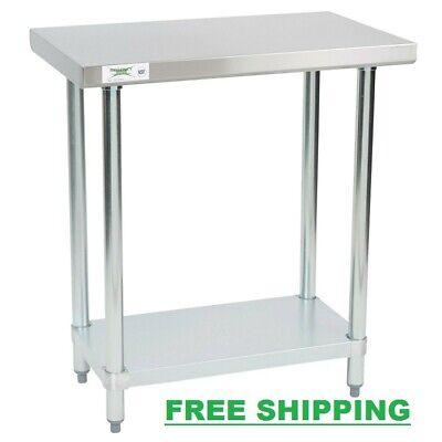 18 X 30 Stainless Steel Work Prep Shelf Table Commercial Restaurant 18 Gauge