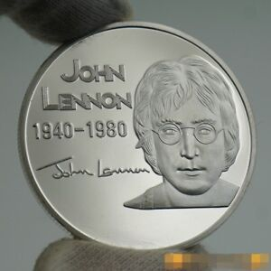The Beatles John Lennon Rock and Roll Hall of Fame Silver Commemorative Coin