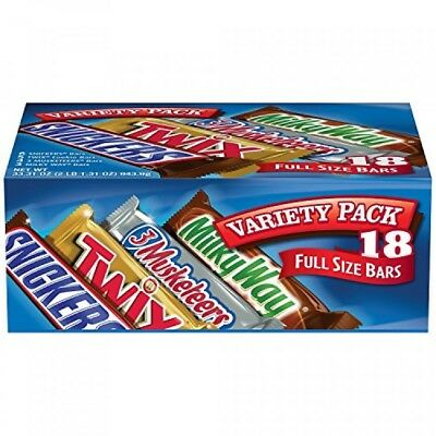 Mars Chocolate Singles Size Candy Bars Variety Pack 33 31Ounce 18Count Box