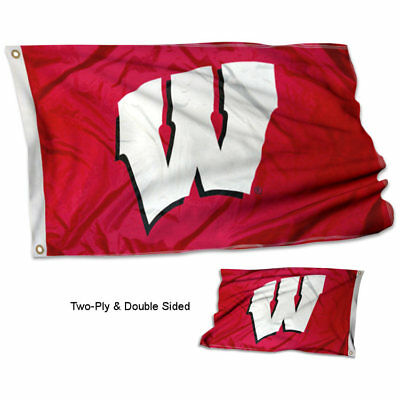 Wisconsin Badgers Banner Flag University Double Sided