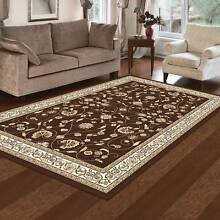 TRADITIONAL RUG-FLOOR RUG-RUNNER-120CM X 170CM-COLOR-BROWN(10887) Bass Hill Bankstown Area Preview