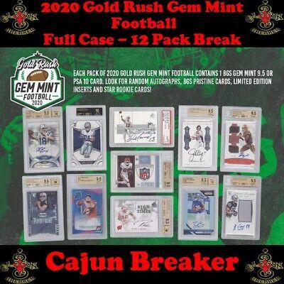 CHICAGO BEARS *FULL CASE 12 PACK LIVE BREAK - 2020 GOLD RUSH GEM MINT BOX Chicago Bears Stone