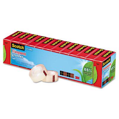Scotch Transparent Greener Tape 34 X 900 1 Core 12pack 61212p