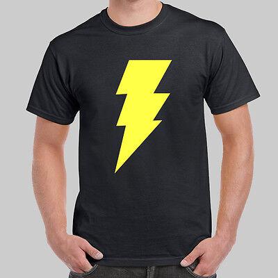 Black Adam Logo Shazam Dwayne Johnson Black T Shirt Usa Size