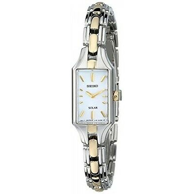 *BRAND NEW* Seiko Women's Two Tone Steel white Mother of Pearl Dial Watch SUP164