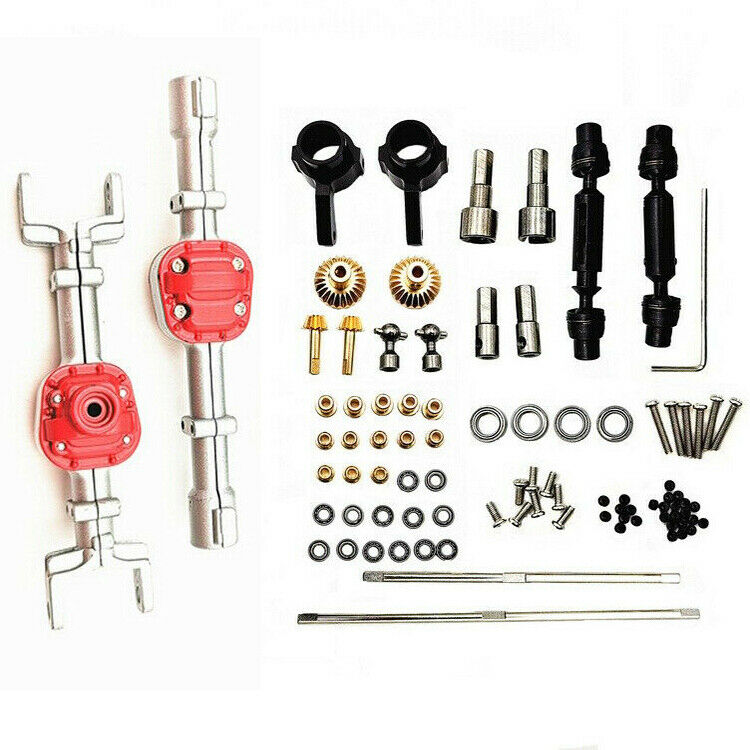 Car Parts - 4WD Metal Front & Rear Axle Housing Parts Set for MN90 91 99 RC Car Upgrade Toys