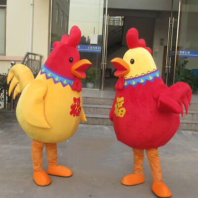 Rooster Mascot Costume Chicken Halloween Fancy Dress Party Outfit Parade - Halloween Chicken Outfit
