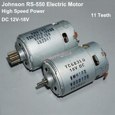 Johnson Rs-550 Vmotor Tc683lg Dc 12v 18v High Speed Torque Power Motor 11 Teeth