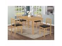 ARIZONA DINNING TABLE WITH 4 CHAIRS JUST £149 SPECIAL OFFER FOR ESTATE AGENTS