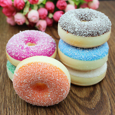 Fun Squishy Colorful Doughnut Slow Rising Scented Squeeze Stress Reliever Toys