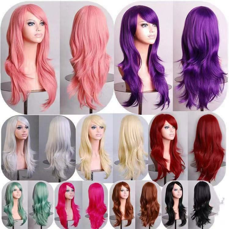 70cm Long Curly Fashion Cosplay Costume Party Hair  Wigs Full Hair Wavy Wig Hair Care & Styling