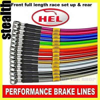 Yamaha YZF-R1 2009-11 HEL Stainless Brake lines / hoses Race set