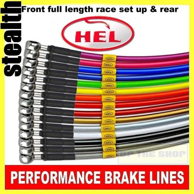 Kawasaki Z800 2013-15 (non abs) HEL Stainless Brake lines / hose Race set