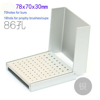Dental Burs Holder Autoclavable Polishing Brush Cup Block 86holes 1pc