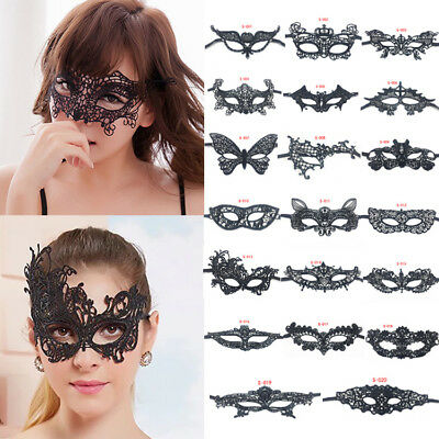 Sexy Women Lace Butterfly Cat Eye Face Mask Masquerade Party Halloween Costume