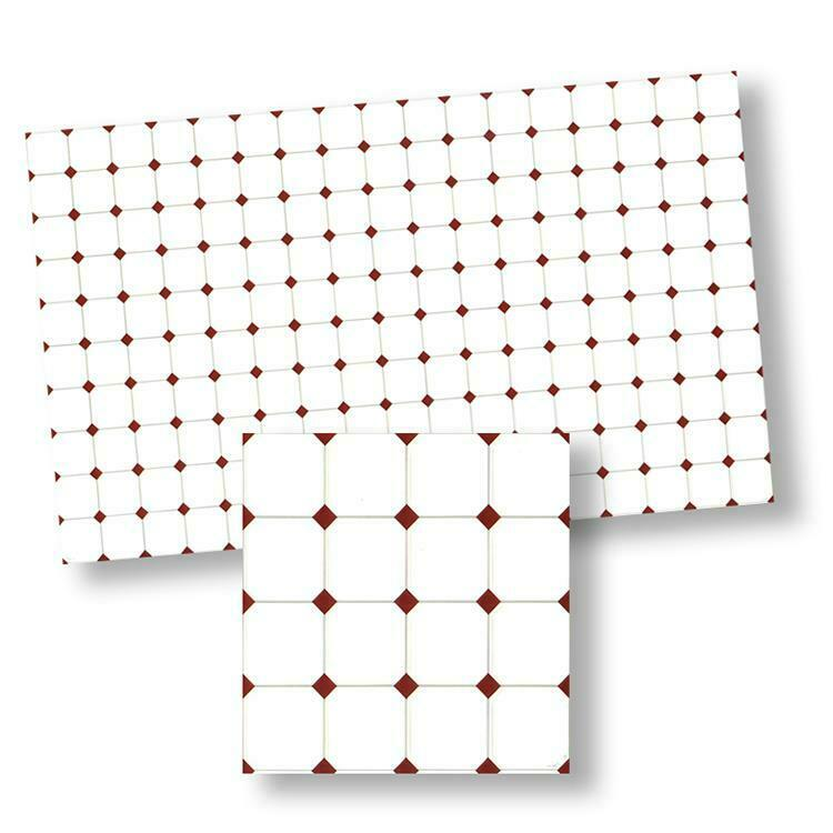 MINIATURE DOLLHOUSE 1:12 SCALE WORLD MINIATURES RED DIAMOND FLOOR TILE-WM34364