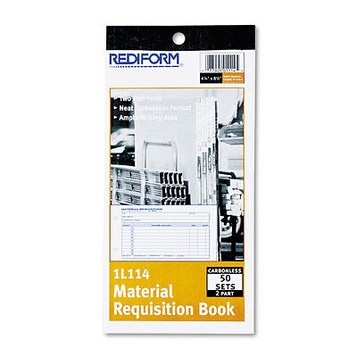 Rediform Material Requisition Book,  Two-Part Carbonless, 50-Set Book Rediform Two Part