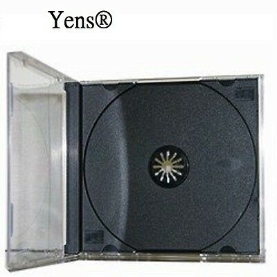 Yens 100 Pcs New Black Single Standard Cd Dvd Jewel Case 10.2mm 10010bcd1