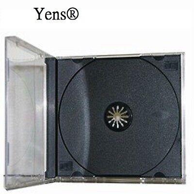 Yens® 100 pcs New Black Single Standard CD DVD Jewel Case 10.2mm  100#10BCD1