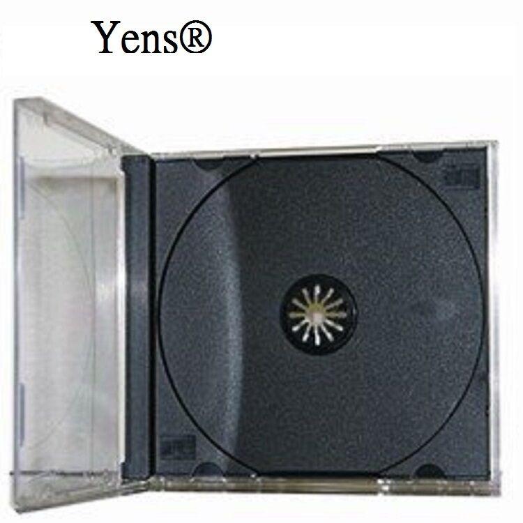 Yens® 200 pcs New Black Single Standard CD DVD Jewel Case 10.2mm  200#10BCD1