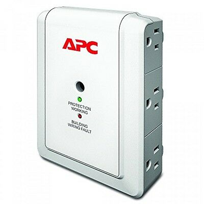 APC 6Outlet Wall Surge Protector 1080 Joules, SurgeArrest Essential (P6W)