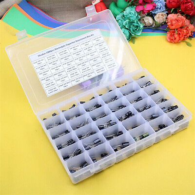 Radial Aluminum Electrolytic Capacitor Assortment Box Kit 36value 1000pcs 105