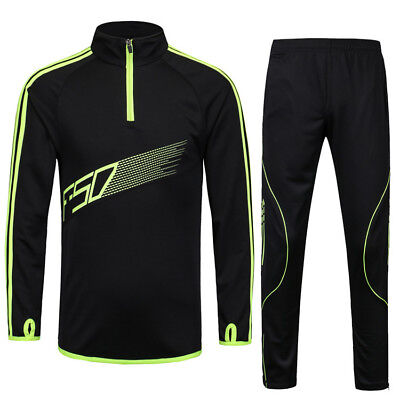 (Tracksuits Men Kids Football Kits Soccer Jerseys Set Boys Football Training Suit)