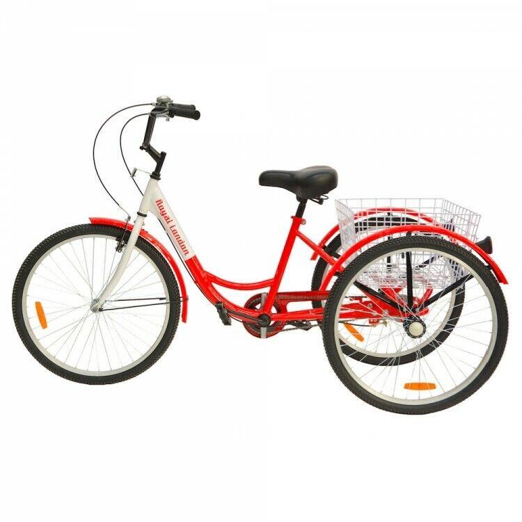 3 wheeled trike adult tricycle 1 speed