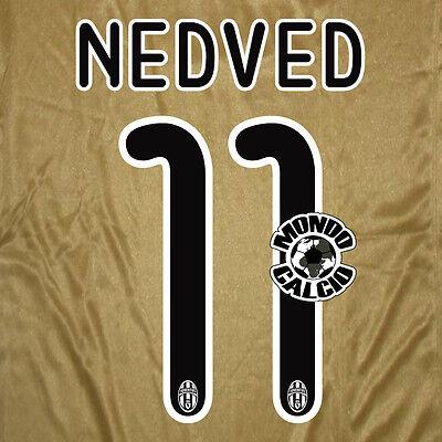 NEDVED #11 JUVENTUS NUMBER AWAY KIT NAME SET PRINTING SERIES 2008-2009