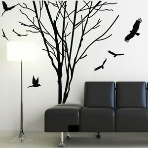 Tree trunk wall decal ebay for Tree trunk wall art