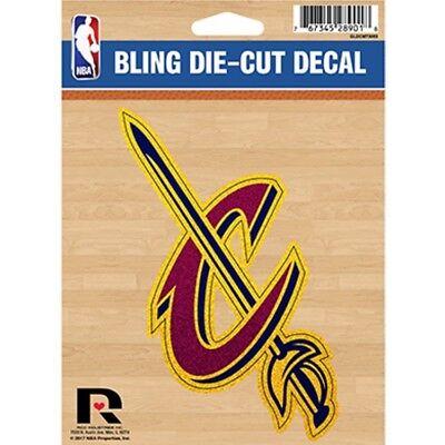 cleveland cavaliers nba basketball logo glitter sticker emblem decal usa made